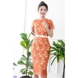 Đầm Ren Body Viền Cách Điệu Xinh Xắn Kèm Nơ