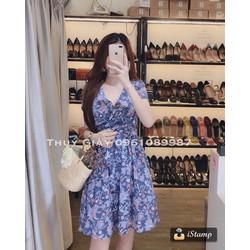 Đầm xoè in họa tiết cực xinh