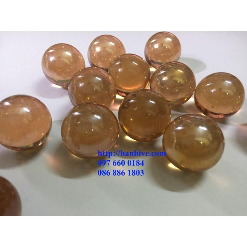 Bộ 10 viên bi ve thủy tinh màu đồng cỡ đại rất đẹp – 10Dong