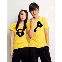 áo thun cặp tình  nhân khóa tình yêu