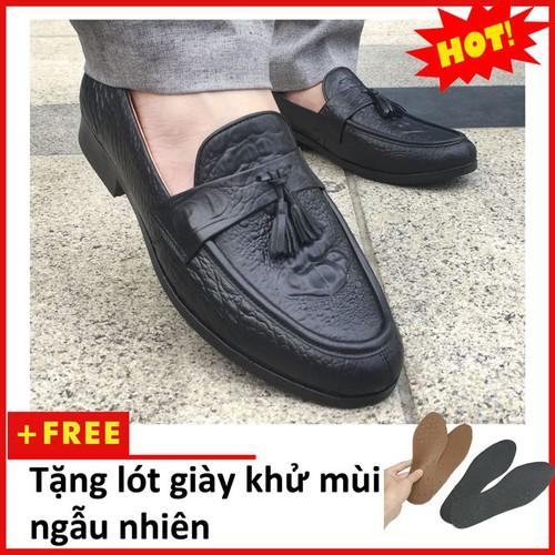 Giày Lười Nam Da Bò| Giày da nam cao cấp| L459-L