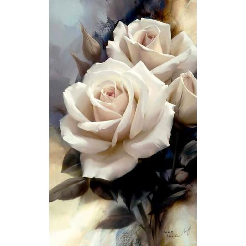 Tranh in canvas VTC hoa hồng LunaCV-0440 KT 42 x 70cm