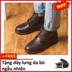 Giày Boot Nam   Giày Boot Nam Cổ Lửng Đẹp Giày Đẹp Nam - Đế Khâu Chắc Chắn- Mẫu Thiết Kế Trẻ Trung - Phong Cách - Hợp Thời Trang, Dễ Phối Với Nhiều Loại Trang Phục , Luôn Đảm Bảo Về Chất Lượng Và Giá Tốt - Ship Cod Toàn Quốc - Giày Đẹp Nam  M354- Nau