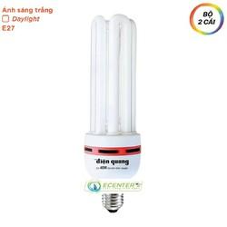 BỘ 2 - Bóng đèn Compact Điện Quang-CFL-4U-F14-40W-DL-E27 – Trắng