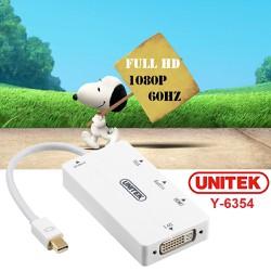 Cáp chuyển đổi mini Displayport to HDMI VGA DVI có tiếng Unitek Y-6354