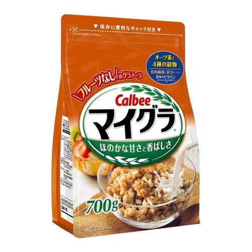 Ngũ cốc calbee nhật bản 700g màu cam lúa mạch ,yến mạch ,bắp