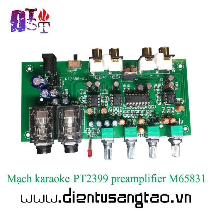 Mạch karaoke PT2399 preamplifier M65831
