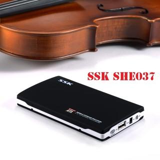 HDD Box Sata 2.5 SSK SHE037 Đen - Hộp đựng ổ cứng - Box ổ cứng - SSK SHE-037 thumbnail