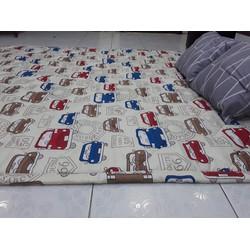 Nệm trải sàn kiêm đệm trải giường cotton lụa loại 1 kiểu Nhật