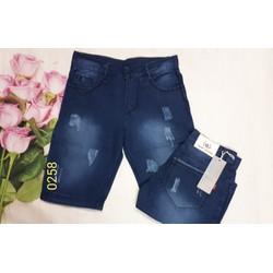 Quần shorts jeans nam thời trang  cào xước hình thật size 28 đến 34 JC01