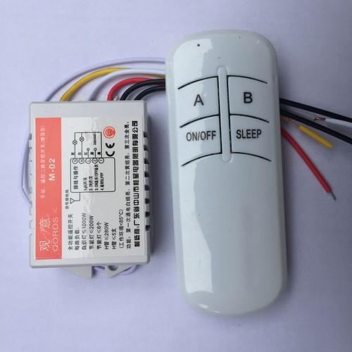Công tắc điều khiển từ xa không dây sóng RF 2 kênh xuyên tường