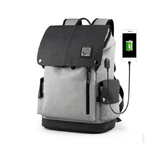 Balo nam thời trang nhập khẩu,cổng USB