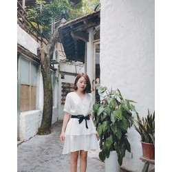Đầm Xòe Kèm Dây Cột Cực Xinh