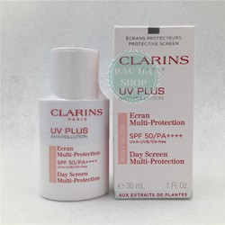 Clarins Kem Chống Nắng UV PLUS Anti Pollution #Roxy Glow 30ml