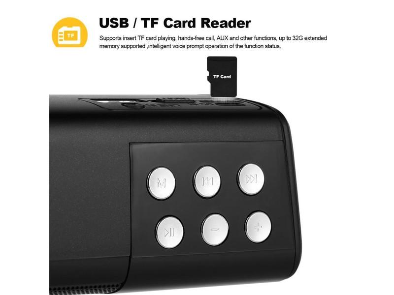 Loa Bluetooth gắn usb thẻ nhớ màn hình LED hiển thị PKCB2080 5
