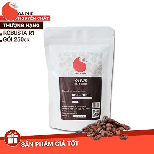 Cà phê hạt Robusta nguyên chất Thượng Hạng - Light Coffee - 250gr