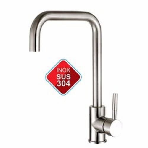 [FREESHIP] Vòi chậu rửa bát nóng,nh Inox sus 304 vuông+2 dây cấp nước