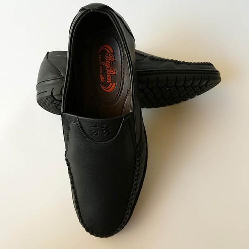 Giày Mọi Nam BIGBEN da bò thật cao cấp màu Đen GM10