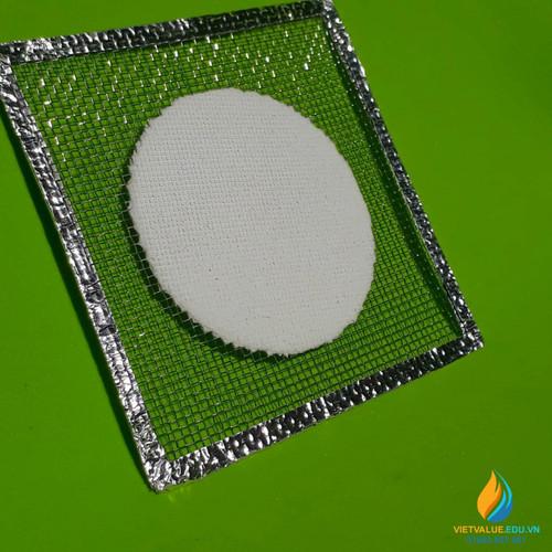 Lưới Amiang cách nhiệt, có viền bạc, kích thước 12.5*12.5cm
