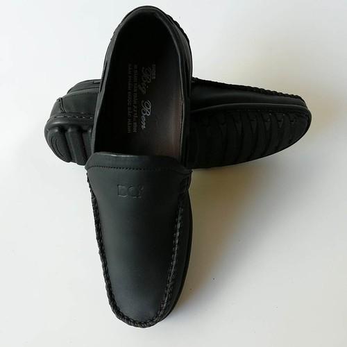 Giày Mọi Nam BIGBEN da bò thật cao cấp màu Đen GM9