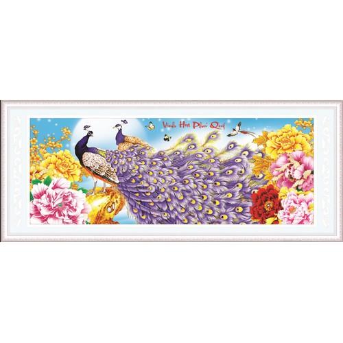 Tranh thêu VỢ CHỒNG CÔNG-122x52cm