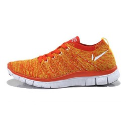 GIÀY THỂ THAO FREE FLYKNIT 5.0 RUNNING SHOES WHITE ORANGE RED