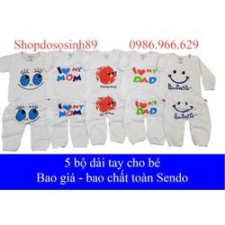 [Sale]   5 bộ dài tay thu đông cho bé trai và bé gái
