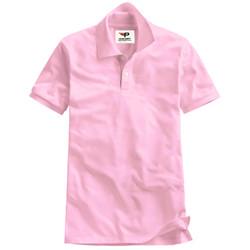Áo thun nam cổ bẻ chuẩn mọi phong cách Pigo PG19 - hồng phấn