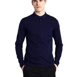 Áo thun nam cổ bẻ dài tay chuẩn phong cách Pigofashion PG09 Xanh đen