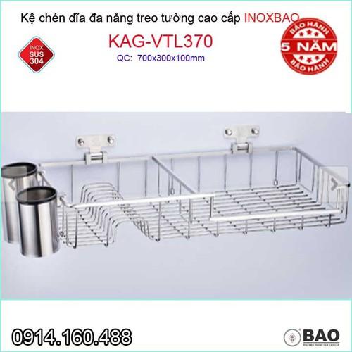 Kệ úp chén dĩa đa năng có ống đũa Inox Bảo KAG-VTL370 - 10672301 , 10653862 , 15_10653862 , 4040000 , Ke-up-chen-dia-da-nang-co-ong-dua-Inox-Bao-KAG-VTL370-15_10653862 , sendo.vn , Kệ úp chén dĩa đa năng có ống đũa Inox Bảo KAG-VTL370