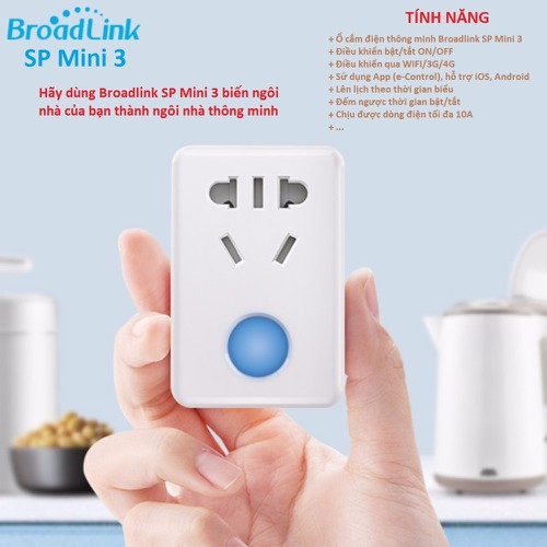Ổ cắm điện thông minh BROADLINK-SP MINI 3, điều khiển từ xa qua WIFI - 10670315 , 10644616 , 15_10644616 , 138000 , O-cam-dien-thong-minh-BROADLINK-SP-MINI-3-dieu-khien-tu-xa-qua-WIFI-15_10644616 , sendo.vn , Ổ cắm điện thông minh BROADLINK-SP MINI 3, điều khiển từ xa qua WIFI