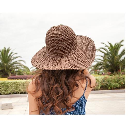 mũ cói móc cao cấp, nón cói thời trang, nón đi biển, mũ cói rộng vành