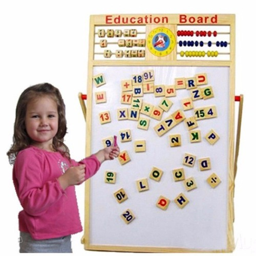 bảng nam châm ghép hình 2 mặt đa năng cho bé tặng kèm bộ chữ số