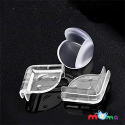 Combo 10 miếng nhựa dẻo bọc góc bàn, tủ,giường,nẹp góc SILICON