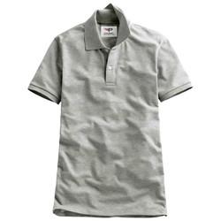 Áo thun nam cổ bẻ chuẩn mọi phong cách Pigo PG19 - Ghi xám