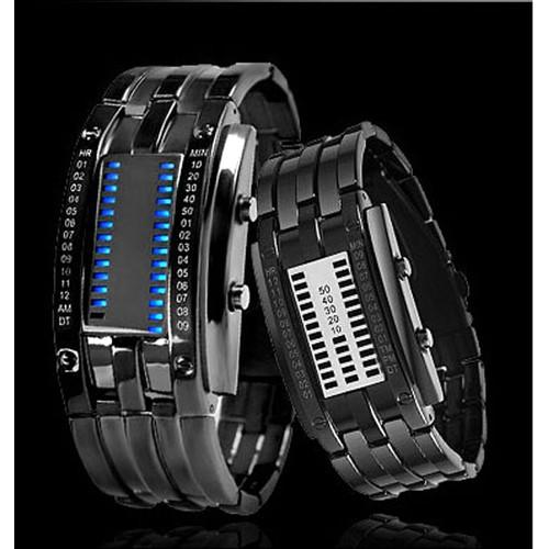 Đồng hồ thời trang nam nhị phân Led Iron đen