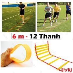Thang dây thể thao tập luyện thể lực bóng đá 6m 12 thanh - POKI