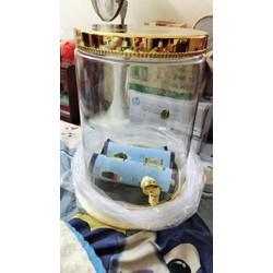Bình sâm thủy tinh ống trụ 17,8 lit có vòi