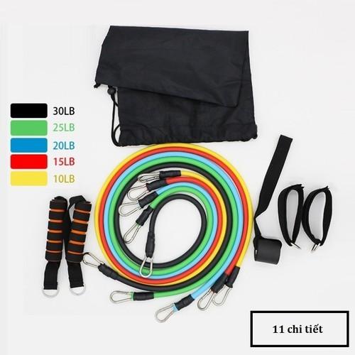 Dây đàn hồi tập Gym - Bộ dây tập thể lực 5 màu