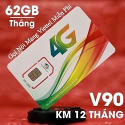 Sim 3G 4G Viettel V90,Tặng 60GB,Gọi miễn phí nội mạng-Zone Hà Nội