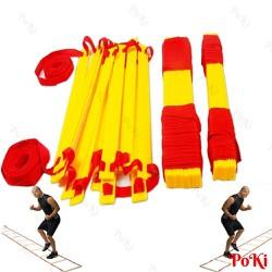 Thang dây thể thao tập luyện thể lực bóng đá 5m 10 thanh - POKI