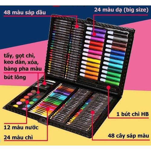 Quà tặng 150 bút màu cho bé, bút sáp màu cho bé