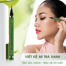 Viết kẻ mí mắt tinh chất trà xanh MIRA perfect green tea pen eyeliner - mc003