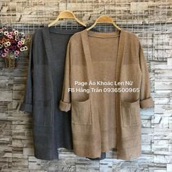 Áo khoác len dài hai túi mẫu mới