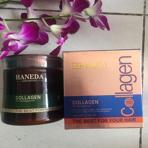 Hấp dầu phục hồi tóc Haneda Collagen 500 ml 5