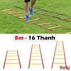 Thang dây thể thao tập luyện thể lực bóng đá 8m 16 thanh - POKI