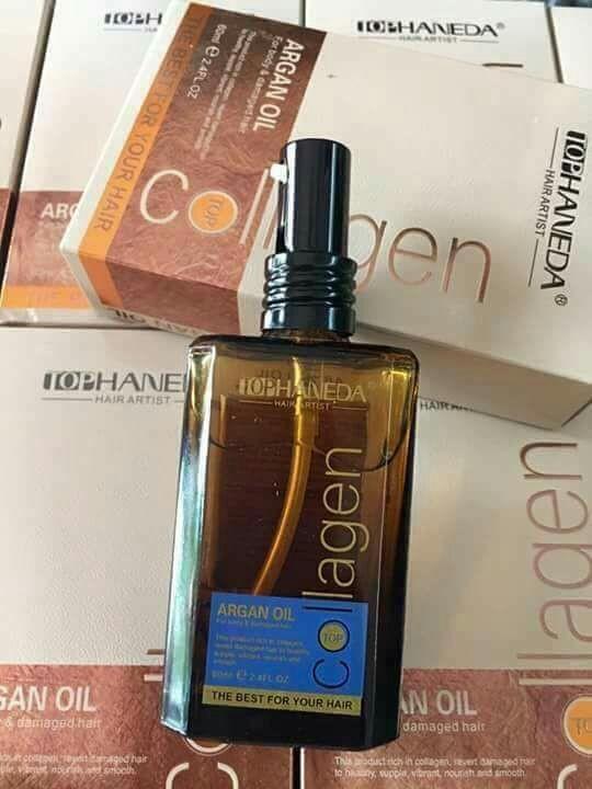 Tinh dầu dưỡng tóc Haneda Collagen Argan Oil 5