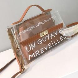 Túi xách trong kèm ví