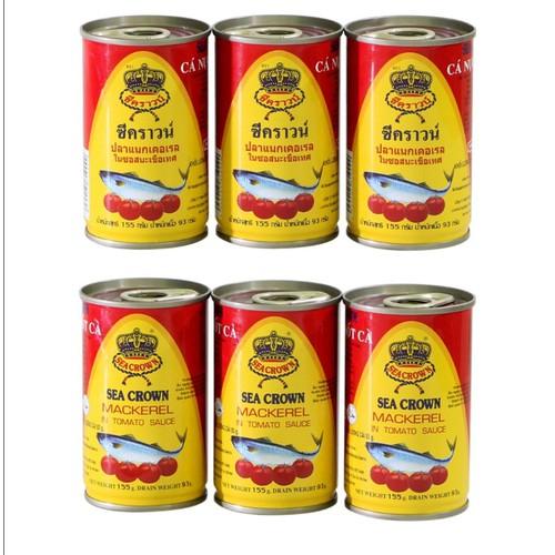 [Xả kho] combo 10 hộp cá trích sốt cà sea crown 155g