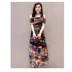 Đầm maxi dài hở vai xinh xắn
